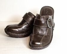 Born Concept Brown leather Buckle Slipon Mule Shoes 36.5, 6