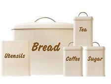 PANNA 5pz Cestino di pane Set Tè Caffè Zucchero Barattoli contenitori + CUCINA Utensil titolare