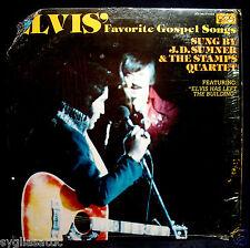 ELVIS PRESLEY-J. D. SUMNER-ELVIS' FAVORITE GOSPEL SONGS-QCA 362 ST-1977-MISPRINT