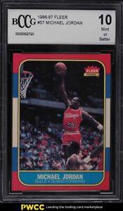 1986 Fleer Basketball Michael Jordan ROOKIE RC #57 BCCG 10