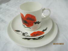 Vintage Wedgwood Cup & Saucer Bread Butter plate Susie Cooper design Corn Poppy