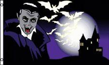 3'x5' Count Dracula Vampire Flag Outdoor Indoor Banner Halloween Blood Scary 3x5