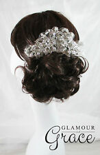 Ebony Vintage wedding bridal crystal lace comb hair accessories headpiece tiara