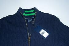 NWT POLO GOLF RALPH LAUREN LADIES FULL FRONT ZIPPER SWEATER SMALL PONY MSRP $165