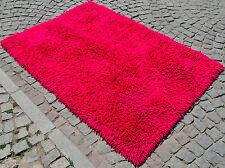 "5x7 Rug HOT PINK Turkish Shaggy Rug. Hand Made High Pile Area Rug act: 55"" x 79"""