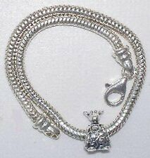 NEW 925 ss Kera  bracelet,w- Pandora giraffe ALE 10.5g