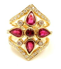 NEW! AUTHENTIC TEMPLE ST CLAIR 18K YELLOW GOLD DIAMOND RUBY PERSIA RING
