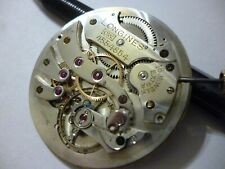 Longines C.W. Cal.18.95M high grade pocket watch movement Circa 1926 Rare 16J