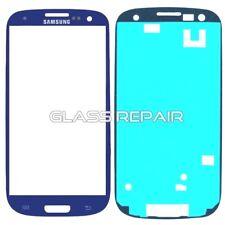 BLU BLUE VETRO Glass Ricambio + BIADESIVO 3M SAMSUNG GALAXY S3 I9300 I9301I Neo