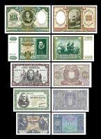 2x 25, 50, 100, 500, 1.000 Pesetas - Edición 09.01.1940 - Reproducción - 18