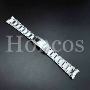 20MM SOLID OYSTER BAND BRACELET FOR ROLEX GMT MASTER WITH FLIP LOCK SHINY CENTR