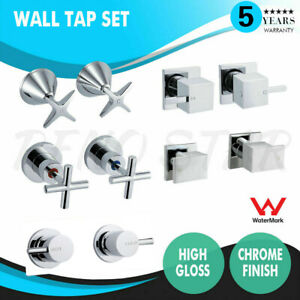 Wall Tap Set Top Assembly With or Without Ceramic Disc Chrome Spindle Durable