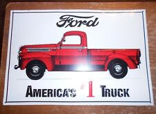 """ford americas #1 truck 91/2""""x14"""" raised letters metal sign been displayed used"""