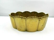 Gold Tone Decorative Brass Metal Bowl 8 In