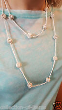 Large,  Ceramic Beaded Statement Double Necklace - Ladies, Womens. Girls,,