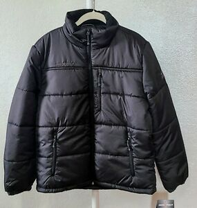 NWT ZeroXposur Mens MEDIUM Flex Quilted Puffer Jacket ThermoCloud BLACK
