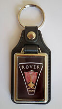 ROVER FAUX LEATHER KEY RING / KEY FOB.BRITISH ROVER CARS.