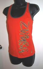 Zumba Size Medium Women's Orange Racer Back Tank