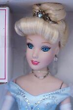 "Cinderella Disney Classic Princess Brass Key 15"" Porcelain Doll Castle Music Box"