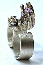 Silver Star Wars ring with Ruby  [2]