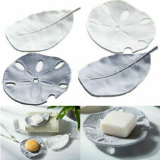 Soap Holder Dish Bathroom Draining Leaf Starfish Soap Stand Box Plate Tray Case