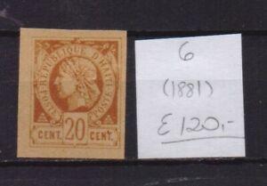 ! Haiti 1881.  Stamp. YT#6. €120.00 !