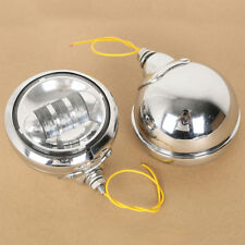 """4.5"""" LED Auxiliary Fog Passing Lights Lamp W/ Housing Bucket For Harley Touring"""