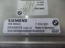 BMW X3 ECU ENGINE ECU, 3.0, M54B30, PETROL, AUTO, ECU ONLY, E83, 06/04-11/06 04