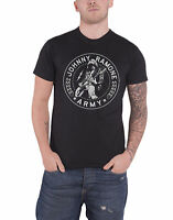 Ramones T Shirt Johnny Army Seal band logo new Official Mens Black