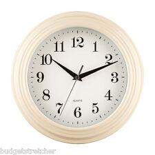 26cm Cream Large Vintage Quartz Kitchen Home Bedroom Office Work Wall Clock