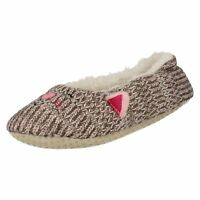 Ladies Eaze Cat Fleecy Lined Slippers - X2046