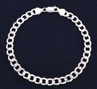 7mm Men's Italian Bold Miami Cuban Link Bracelet Real Solid Sterling Silver 925