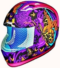 AUSTRALIAN SITE: MOTORCYCLE HELMET - Top Notch Embroidery Design on a CD