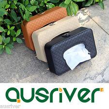 1pc Car Sun Visor Tissue Box Leather Auto Accessories Holder Paper Napkin Clip