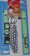 Dog Leash/ Chokechain/ Collar Complete Set Small Green Pet Lead @My Other Items