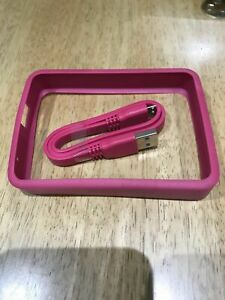 YYY WD Grip Pack for My Passport Ultra 2&3TB (Flat USB Cable+Fuchsia/Pink Grip)
