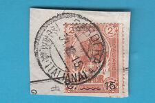 Frammento ITALIA COLONIE SOMALIA 1903-07 Elefante e Leone Usato 15 su 2 BARDERA