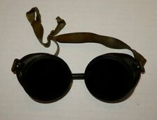 Vintage Steampunk Safety Goggles Green Tinted Lenses