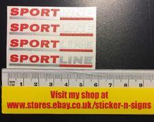 VW Transporter 4x Sportline Stickers T5 T4 T6 Wheel Sticker Decal 55mm