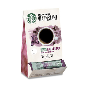 Starbucks VIA Instant Decaf Italian Roast Dark Roast Coffee 50 packets oct/2020