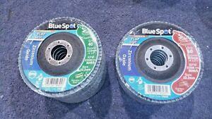 10x 40 Grit & 10x 60 Grit Zirconium Oxide Flap Sanding Grinding Discs Grit 115mm