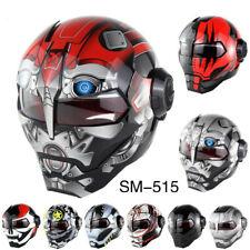 DOT Robot Motobike Moto Modular Flip Up Helmets Motorcycle Full Face Helmet