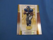 Brandon Jacobs Leaf Certified Materials 2007 10 Mirror Gold Short Print SP 10/25