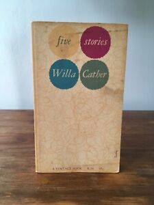 Willa Cather ~ Five Stories ~ Vintage Paperback ~ Alvin Lustig Cover