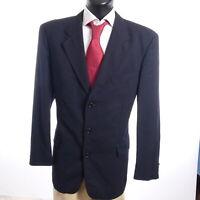 HUGO BOSS Zegna Sakko Jacket Rubirosa Gr.54 blau uni Zweireiher -S871