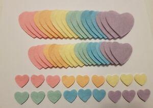 x 54 Felt Heart Embellishments. die cuts