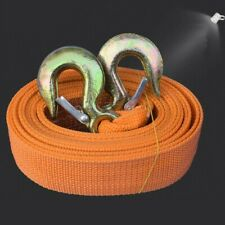 8 Tons Car Tow Cable Towing Strap Rope with Hooks Emergency Heavy Duty 20 FT SI