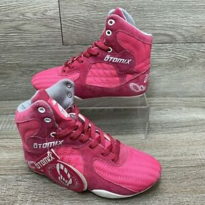 Otomix Stingray Women Weightlifting Bodybuilding Fitness Shoes Pink White Sz 6.5