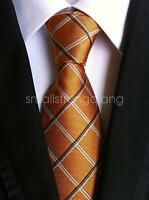 Mens Classic Brown Silk Tie Necktie JACQUARD Neck Ties Best Man Wedding gift