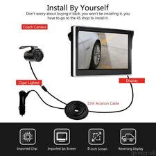 "Plug&Play 4 PIN Rear View Kit 5"" Monitor +Mini COMS Reversing Camera For Car Van"